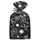 Black and White Floral Party Bags, 20 Count